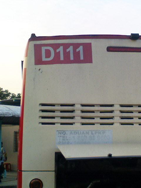 This sticker shows that this bus is Dong Feng bus/chassis 111