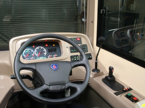 A close-up view of the Driver's station - image courtesy of Scania Malaysia