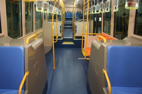 Interior of the RapidPenang bus facing the rear - image courtesy of Scania
