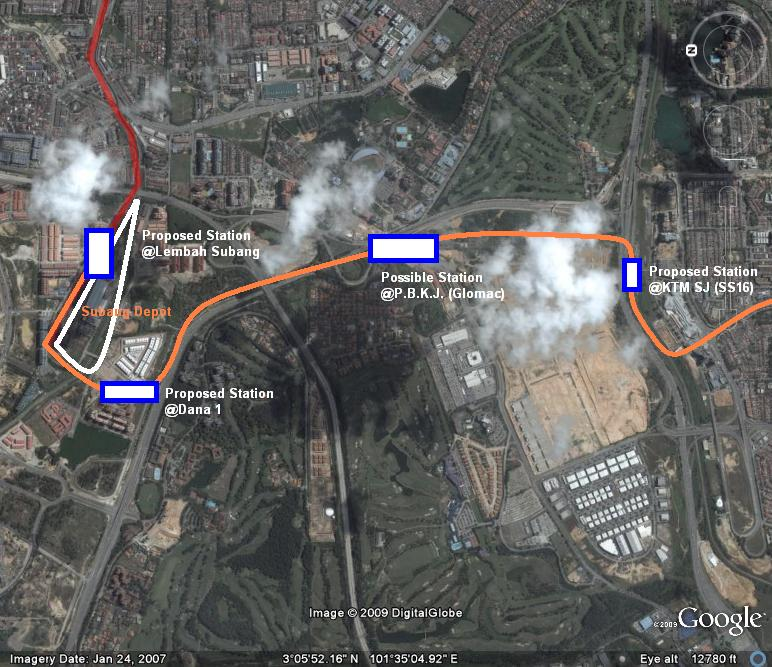 Map Of Asia Jaya Lrt Station.Lrt Route Extension Into Subang Jaya