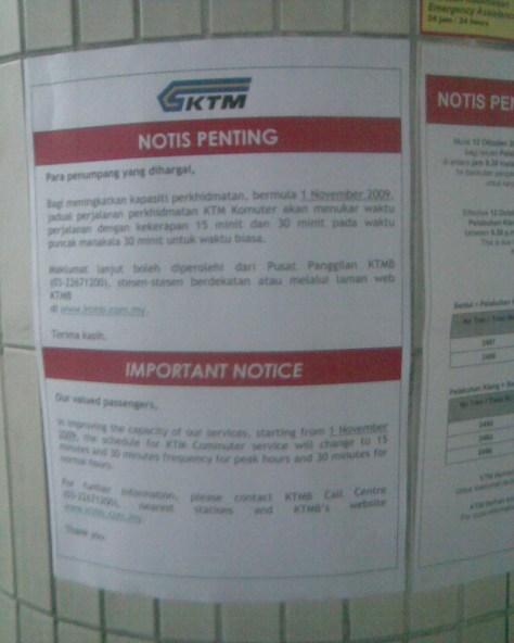 New KTM Komuter Service Schedule