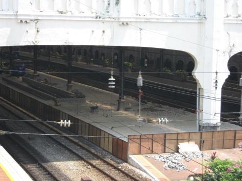 Construction at KTM Kuala Lumpur station to raise the station platform