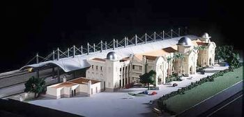 Architectural model for Ipoh Railway station with new extension