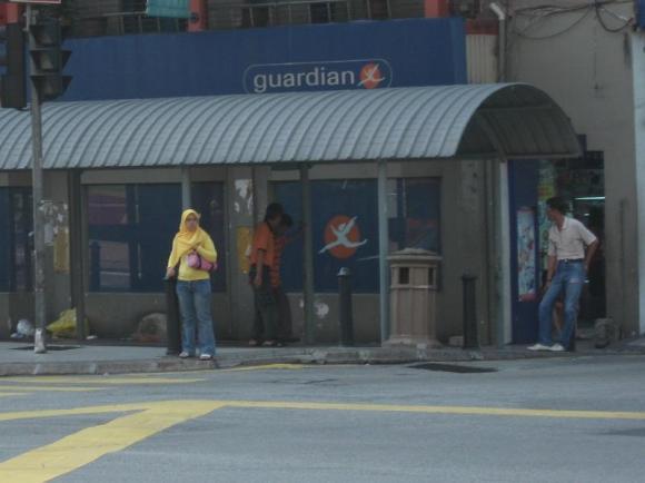Intercity touting outside Kota Raya market