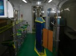 A view of the 'bar' area in the ETS trainset. Each train is equipped with one bar section