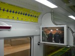 An image of the route map and one of the LCD tvs in the carriage